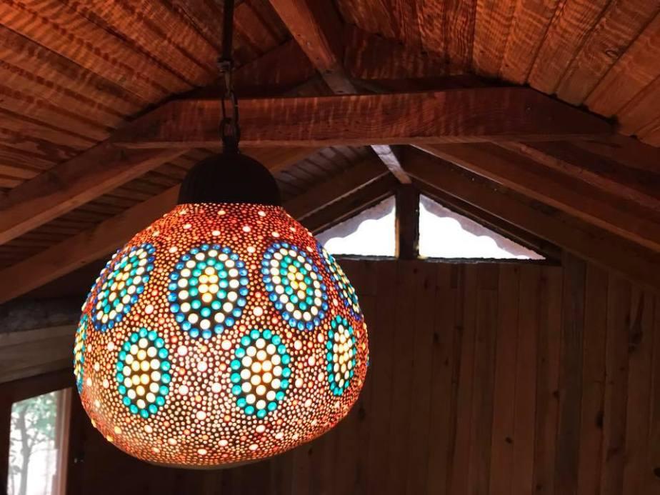 ottoman pumpkin lamp
