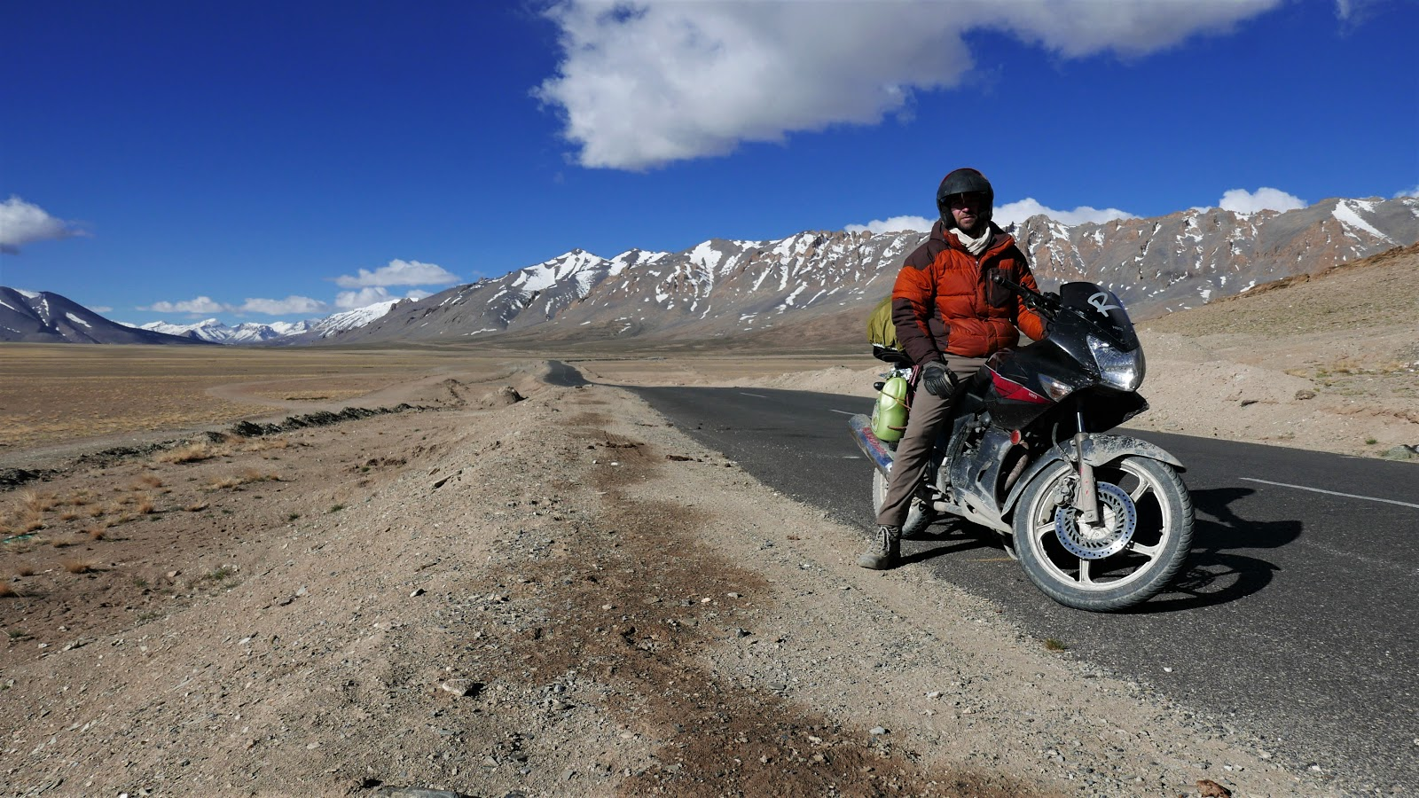 Josh motorcycling through the Himalayas